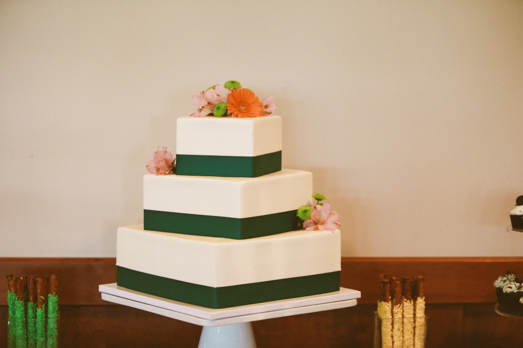 Square Wedding Cake - Jenn Marie Photo - White Dress Events