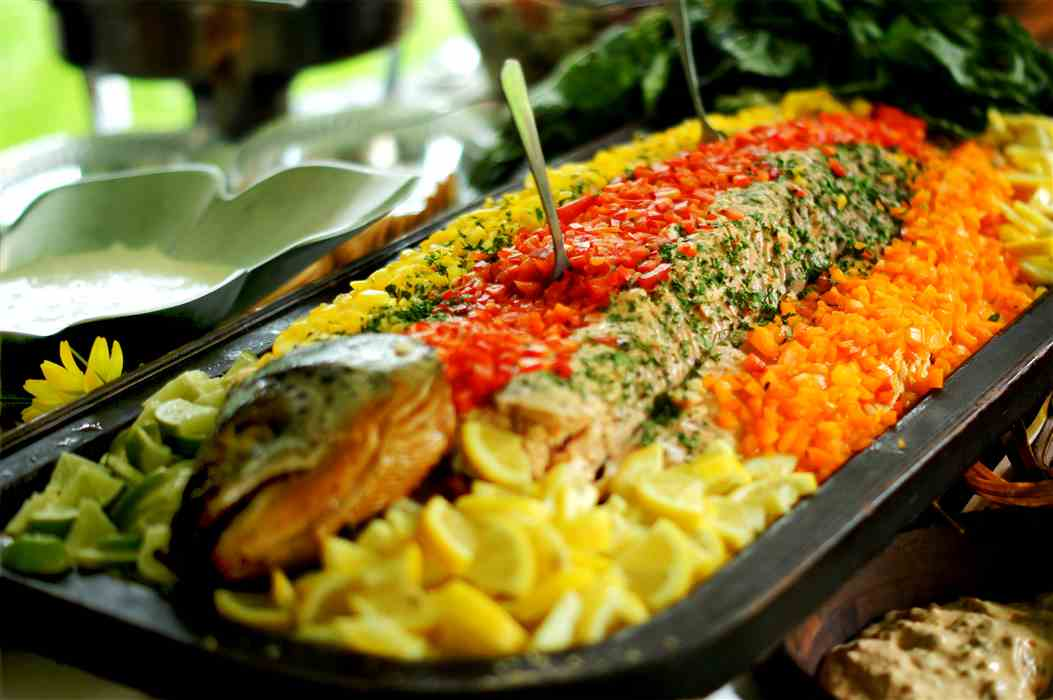 Ryke's Catering Salmon Dinner